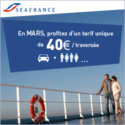 SEAFRANCE : Ferries pour l&rsquo;Angleterre, 40  par traverse : Calais &#8211; Douvres