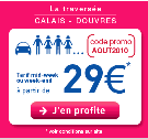 SEAFRANCE : Code promo d&rsquo;aot mid weekend ou weekend  partir de 29 euros