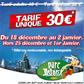 PARC ASTERIX : 30 euros le billet pour Noël