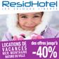 RESIDHOTEL : Réductions locations de vacances jusqu'à 40%