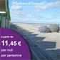 MADAME VACANCES : Week-ends et courts séjours à partir de 11,45 euros par nuit et par personne