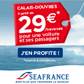 SEAFRANCE : Traverse Calais Douvrez  partir de seulement 29 euros pour une voiture et ses passagers