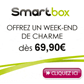 SMARTBOX : Week-end de charme à 69,90 euros