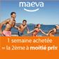MAEVA : Pour une semaine achetée la deuxième est à moitié prix