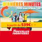 NOUVELLES FRONTIERES : Des séjours à partir de 539 euros pour fin de l'été