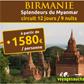 VOYAGES AUCHAN : Circuit en Birmanie à partir de 1580 euros par personne