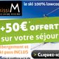 TRAVELSKI : 50 euros offerts sur votre séjour au ski avec Skissim !