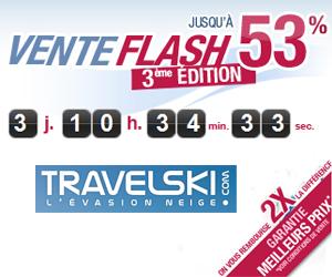 Travelski ventes flash
