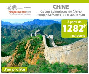 Circuit Chine à partir de 1282€ par personne avec Voyages Auchan