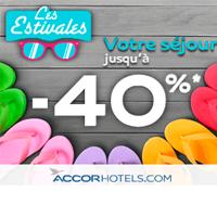 Jusqu'à – 40% dans plus de 1300 hôtels du groupe Accorhotels