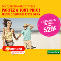 Soyez malin avec Marmara et réservez dès maintenant vos vacances d'hiver en économisant jusqu'à 400 € en partant à 2 !