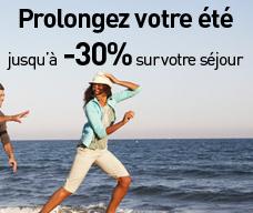 Prolongez votre été : Jusqu'à 30% de réduction sur votre séjour
