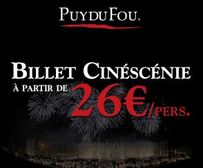 Puy Du Fou : Billets Cinéscénie à partir de seulement 26€ par personne