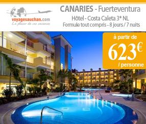 Voyages Auchan : Séjour en Espagne à Fuerteventura