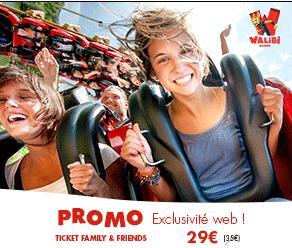 Promos Famille et amis chez Walibi : entrée à 29€