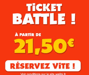 WALIBI  : le ticket Battle à partir de 21,50€